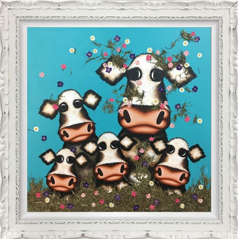 Was It You Little Moo - Framed by Caroline Shotton