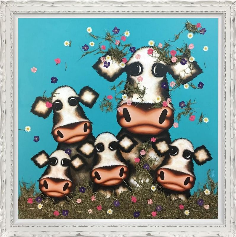 Was It You Little Moo - Deluxe - Framed by Caroline Shotton