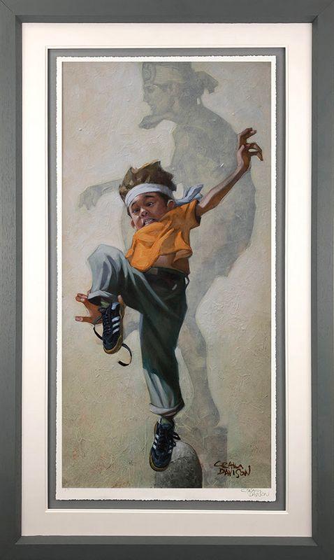 Wax On - Wax Off - Grey - Framed by Craig Davison
