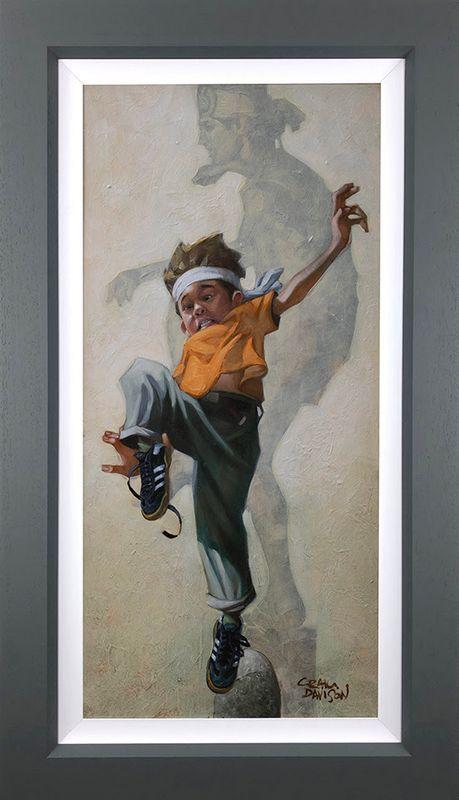 Wax On - Wax Off - Canvas - Grey - Framed by Craig Davison