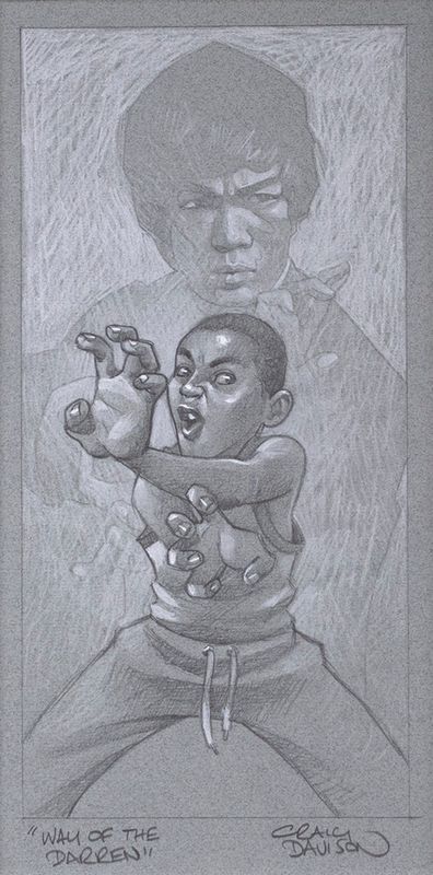 Way Of The Darren - Sketch - Artist Proof - Mounted by Craig Davison