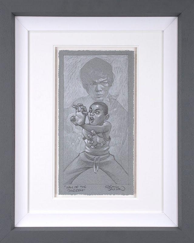 Way Of The Darren - Sketch - Artist Proof Grey - Framed by Craig Davison