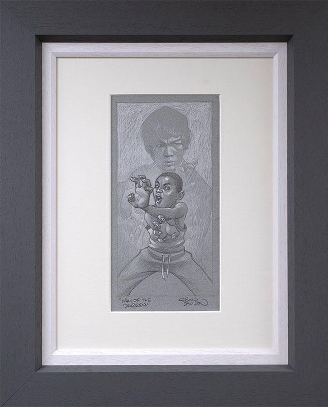 Way Of The Darren - Sketch - Original - Grey - Framed by Craig Davison