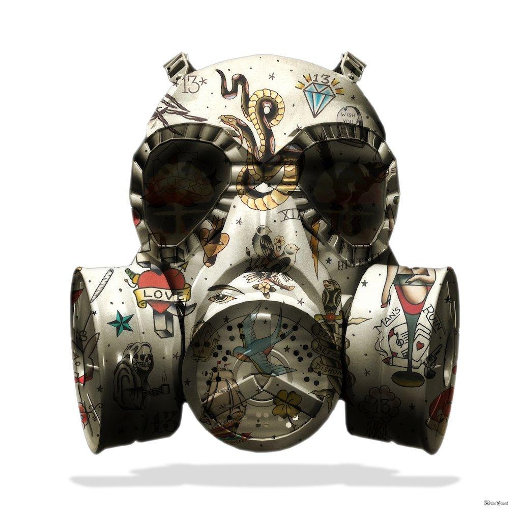 We All Wear Masks (White Background) - Large - Framed by Monica Vincent