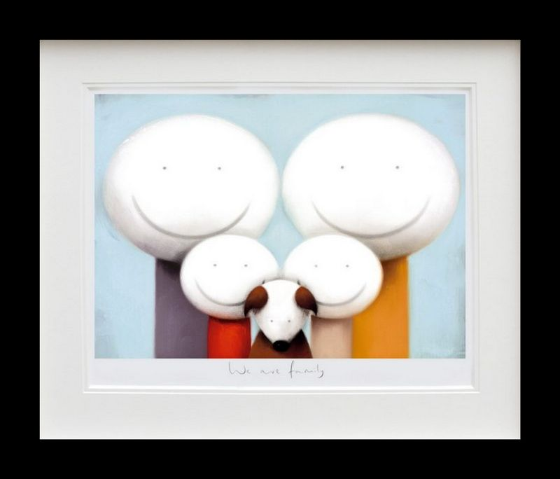 We Are Family - Black Framed by Doug Hyde