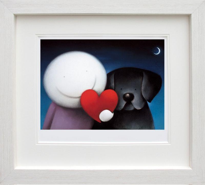 We Share Love - White Framed by Doug Hyde