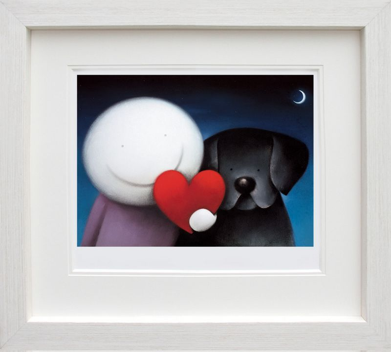 We Share Love - In White - Framed by Doug Hyde
