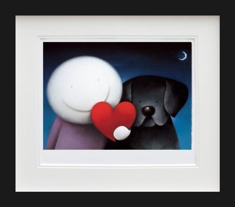 We Share Love - Black Framed by Doug Hyde