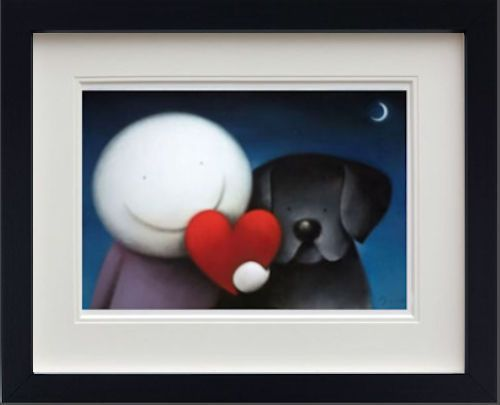 We Share Love - In Black - Framed by Doug Hyde