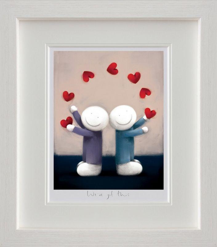 We've Got This - White Framed by Doug Hyde