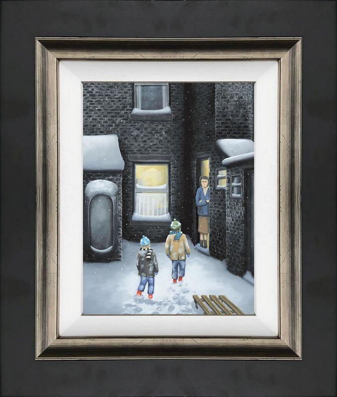 What's For Tea Mam? - Canvas - Framed by Leigh Lambert