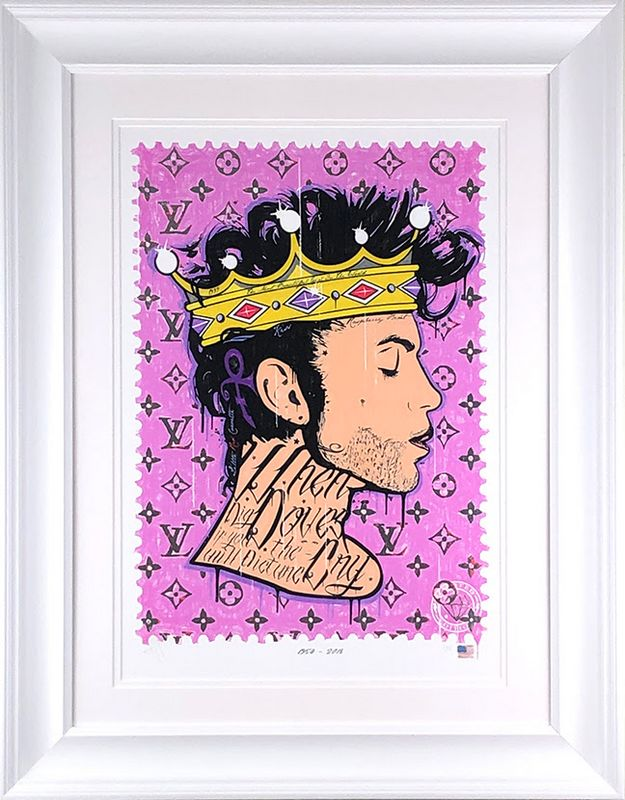 Where Doves Cry - Prince - Artist Proof White - Framed by JJ Adams