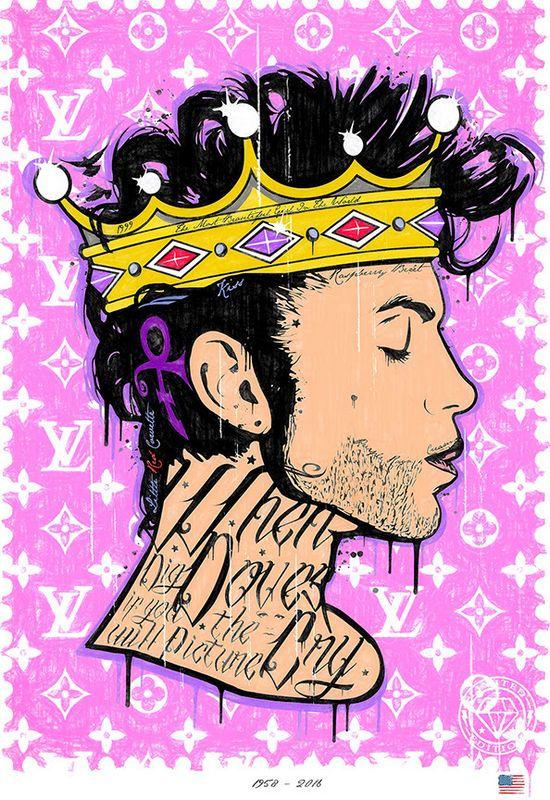 Where Doves Cry - Prince - Original - Framed by JJ Adams