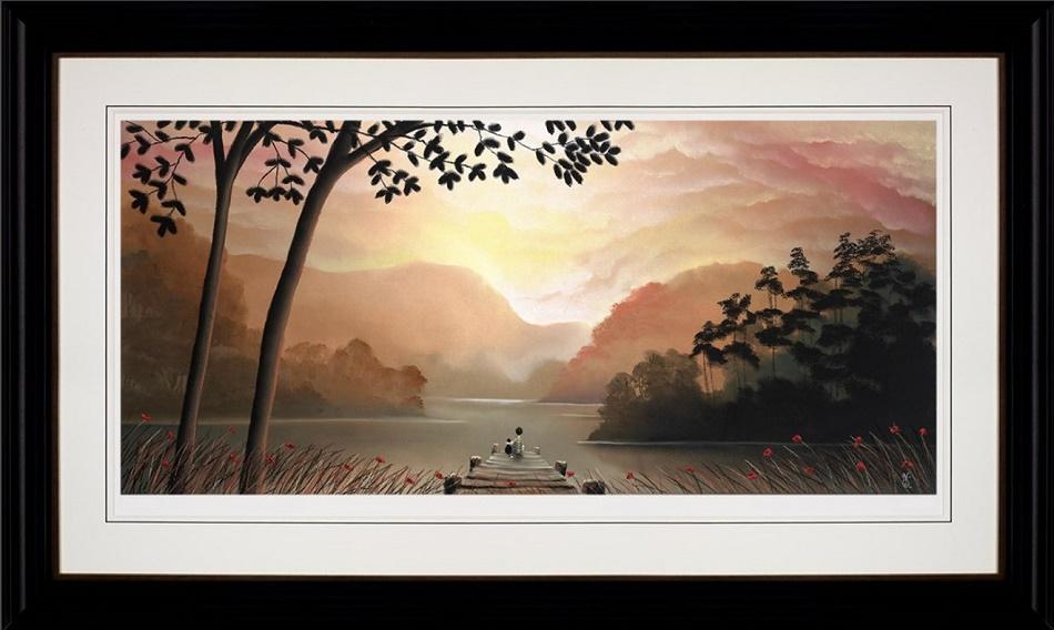 Whispering Waters - Framed by Mackenzie Thorpe