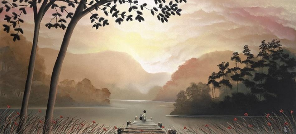 Whispering Waters by Mackenzie Thorpe