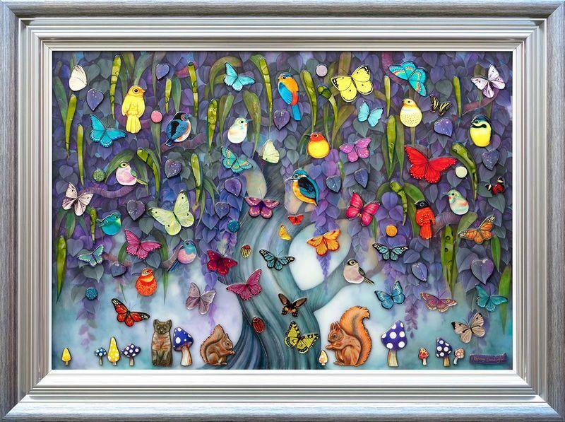 Wild Magic - Silver-Blue Framed by Kerry Darlington