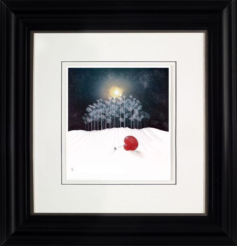 Winter Frost - Black - Framed by Mackenzie Thorpe