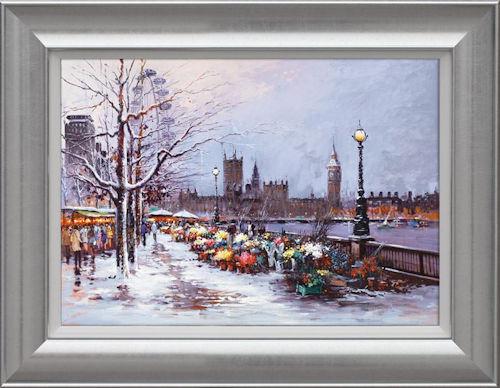 Winter in Westminster - Framed