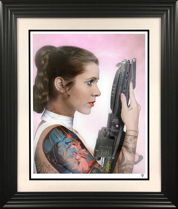 Your Worshipfulness - Princess Leia - Black - Framed by JJ Adams
