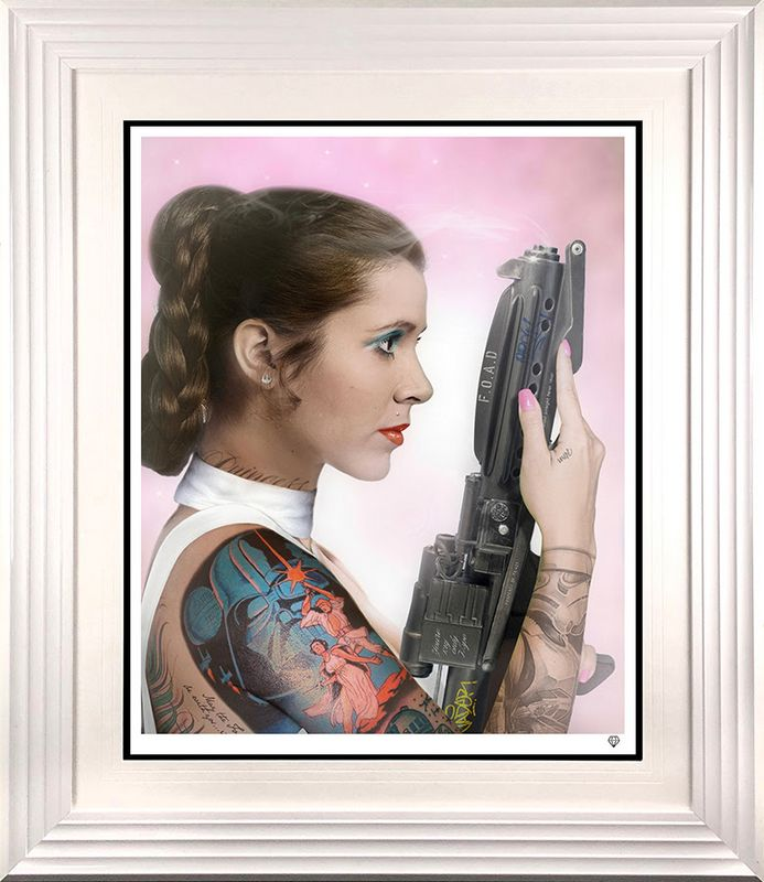 Your Worshipfulness - Princess Leia - White - Framed by JJ Adams
