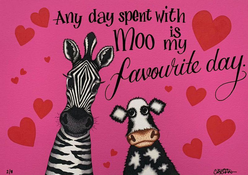 Zebra And Cow by Caroline Shotton