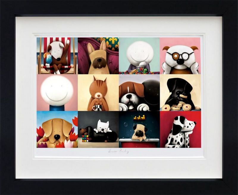 Zoom Party - Black - Framed by Doug Hyde