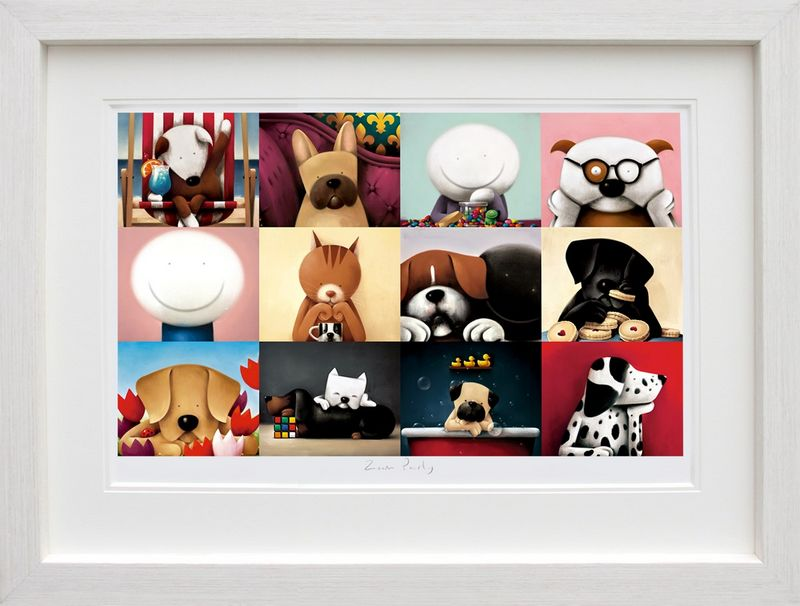 Zoom Party - White - Framed by Doug Hyde