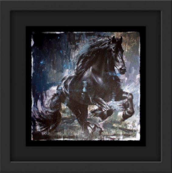Zorro - Black - Framed by Rob Hefferan