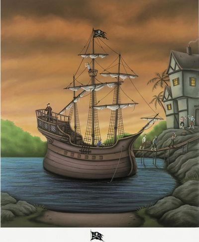 Smugglers Cove - Remarqued Edition - Mounted by Paul Horton