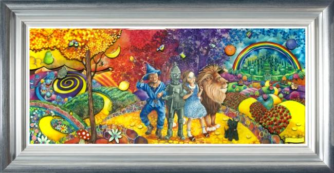 The Journey To Emerald City - Wizard Of Oz - Framed by Kerry Darlington