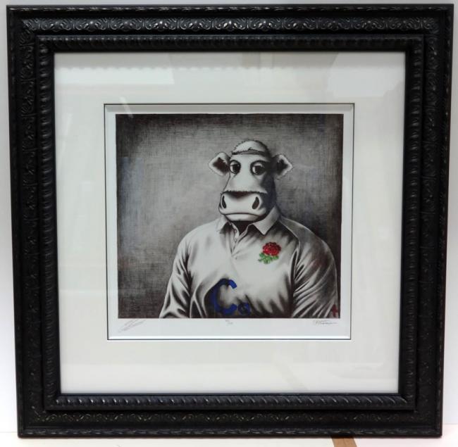 Rugby Bull Sketch by Caroline Shotton
