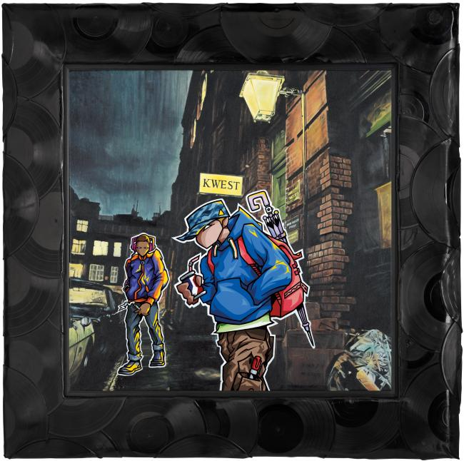 Dave's Star Quest - Canvas - Framed by Temper