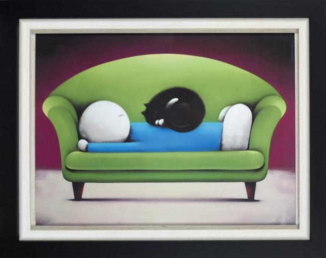 Catnap II (Deluxe) - Framed by Doug Hyde