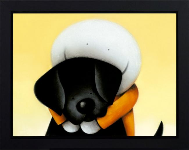 Beware Of The Dog II (Deluxe) - Framed Box Canvas by Doug Hyde