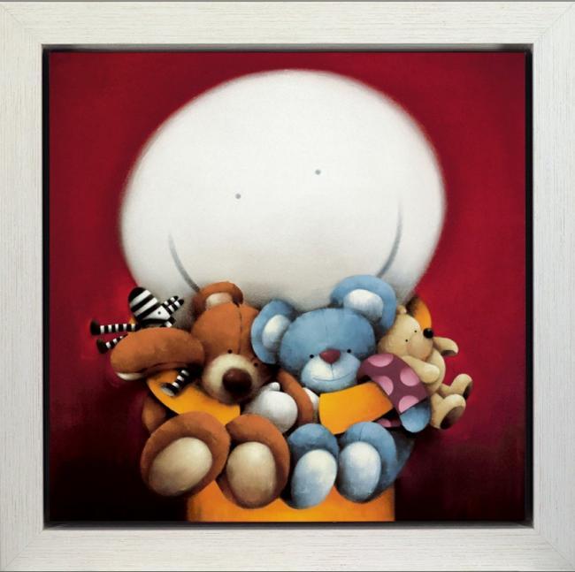 Bear Hug II (Deluxe) - Framed Box Canvas by Doug Hyde