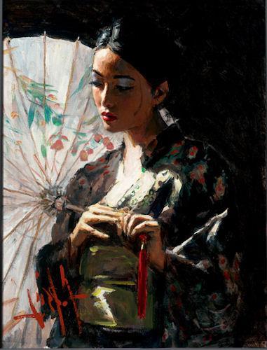 Michiko with White Umbrella - LPEZ885