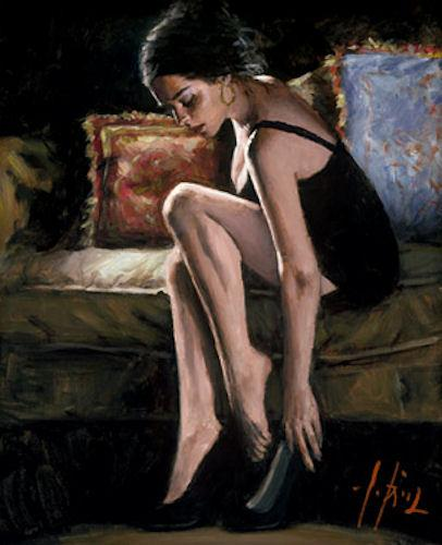 Blue And Red III by Fabian Perez