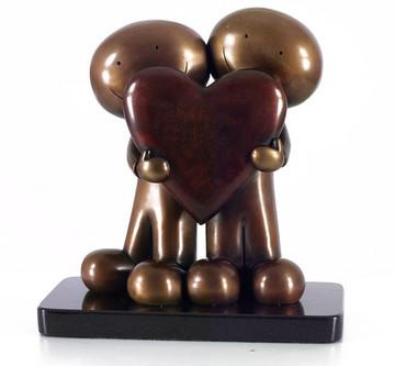 I Love You This Much II - Bronze - Bronze by Doug Hyde
