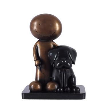 Beware Of The Dog II - Bronze - Bronze by Doug Hyde