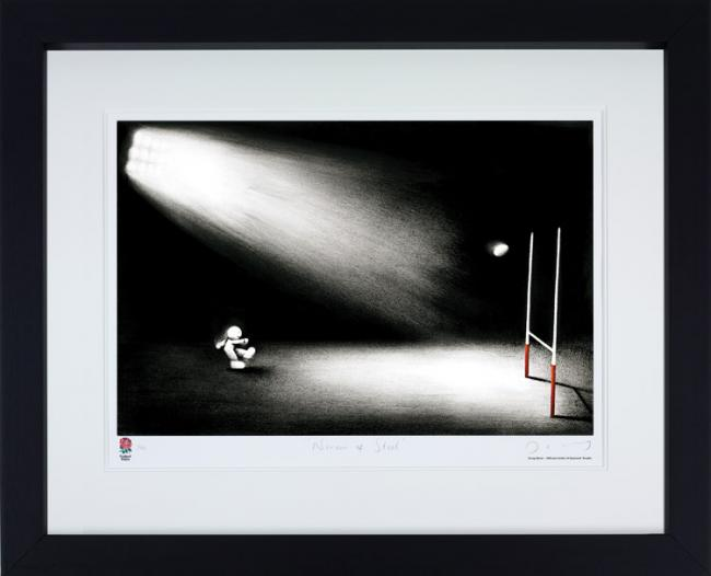 Nerves Of Steel - Black Framed by Doug Hyde