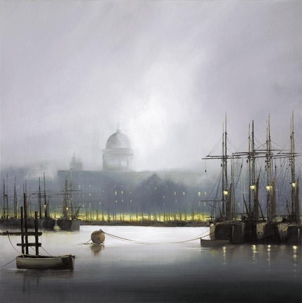 Mist On The Thames  by Barry Hilton