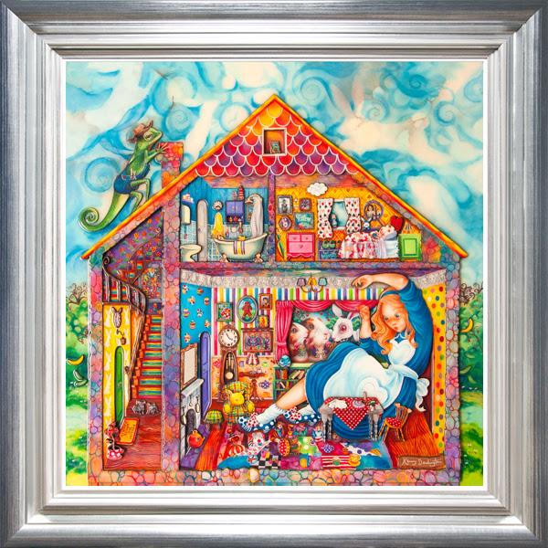 Alice In William Rabbits House - Deluxe - Framed by Kerry Darlington