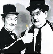 Fire Starter (Laurel and Hardy) by Chris Oxenbury