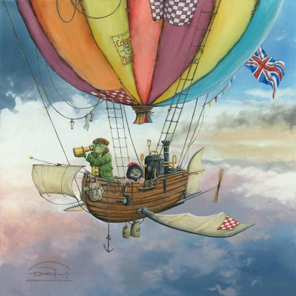 Mr Toad and Moley's Fantastic Flying Machine - Framed by Dale Bowen