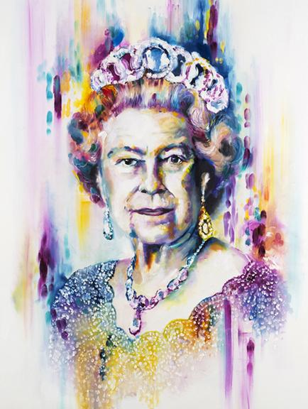 HER MAJESTY (THE QUEEN) by Katy Jade Dobson