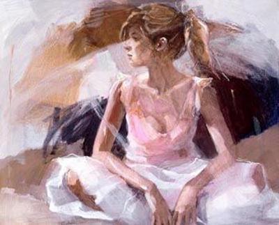 On The Threshold (canvas) by Christine Comyn