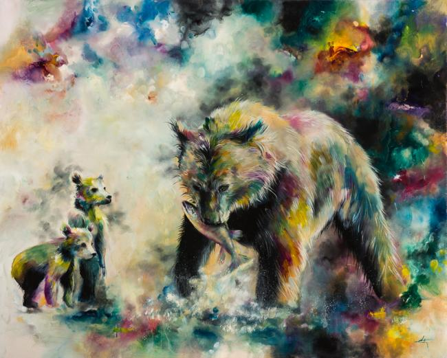 Devoted (Grizzly Bear Family) by Katy Jade Dobson