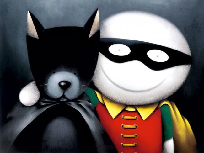 Catman And Robin (Deluxe) - Mounted by Doug Hyde