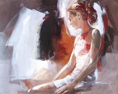 Window Seat (canvas) by Christine Comyn