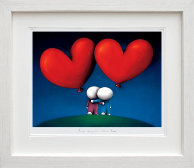 Two Hearts One Love - Framed